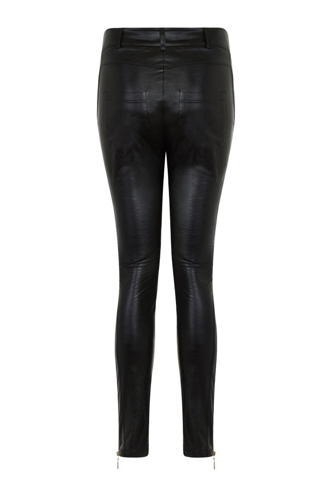 London Rebel | Lexi Faux Leather Trousers | Back View