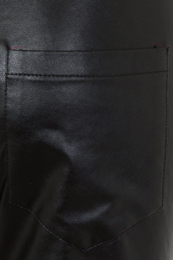 London Rebel | Lexi Faux Leather Trousers | Back View Close Up