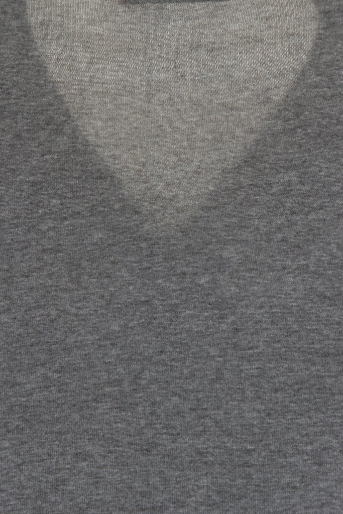 London Rebel | Hilda Light Grey Wrap Over V-neck | Back View Close Up