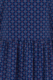 London Rebel | Azul High Neck Printed Dress | Front View Close Up