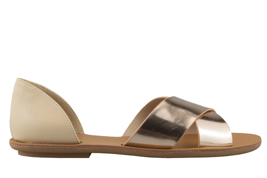 Milo Rose Gold and Nude Crossover Sandal