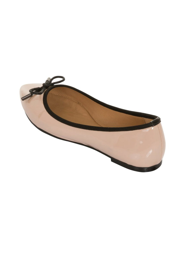 London Rebel | Sophie Nude Point Toe Ballerina | Back Three Quarter