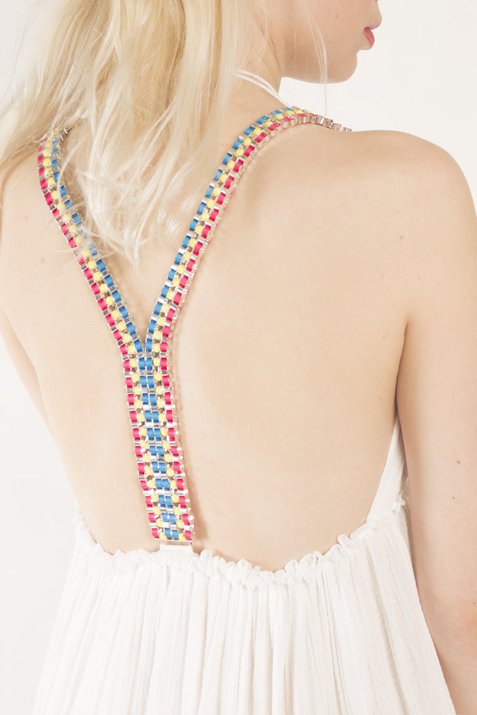 London Rebel | Terri White Swing Dress | Lifestyle Image Back View Close Up