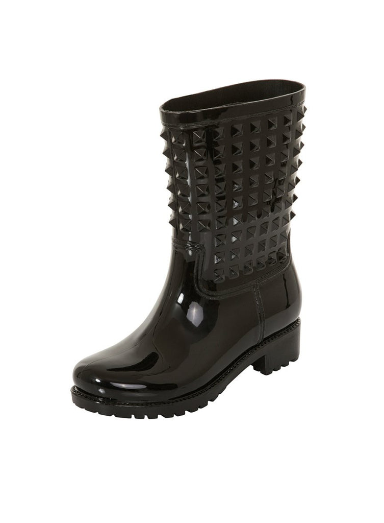 London Rebel | Tucker Black Wellies | Front Three Quarter