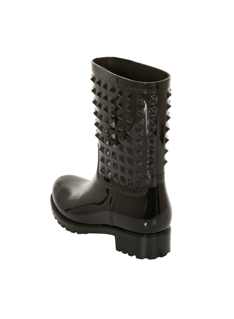 London Rebel | Tucker Black Wellies | Back Three Quarter