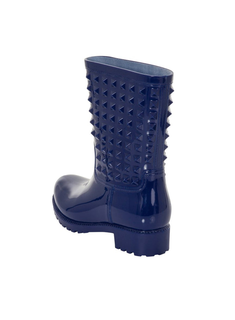 London Rebel | Tucker Blue Wellies | Back Three Quarter