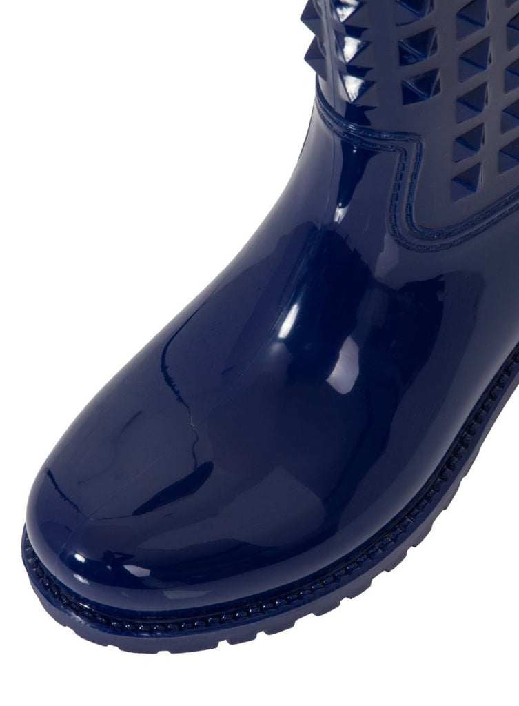 London Rebel | Tucker Blue Wellies | Front Three Quarter Close Up