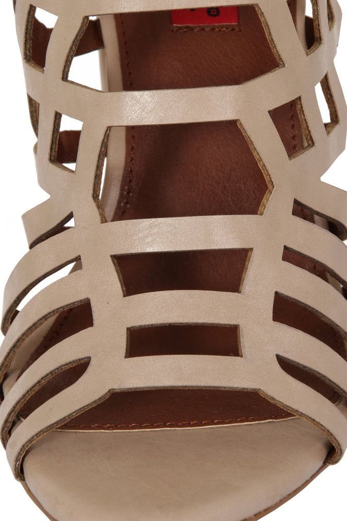 London Rebel | Veronica Nude Gladiator Sandals | Close Up