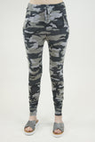 London Rebel | Camo Camouflage 2-piece Tracksuit Set | Lifestyle Image Close Up