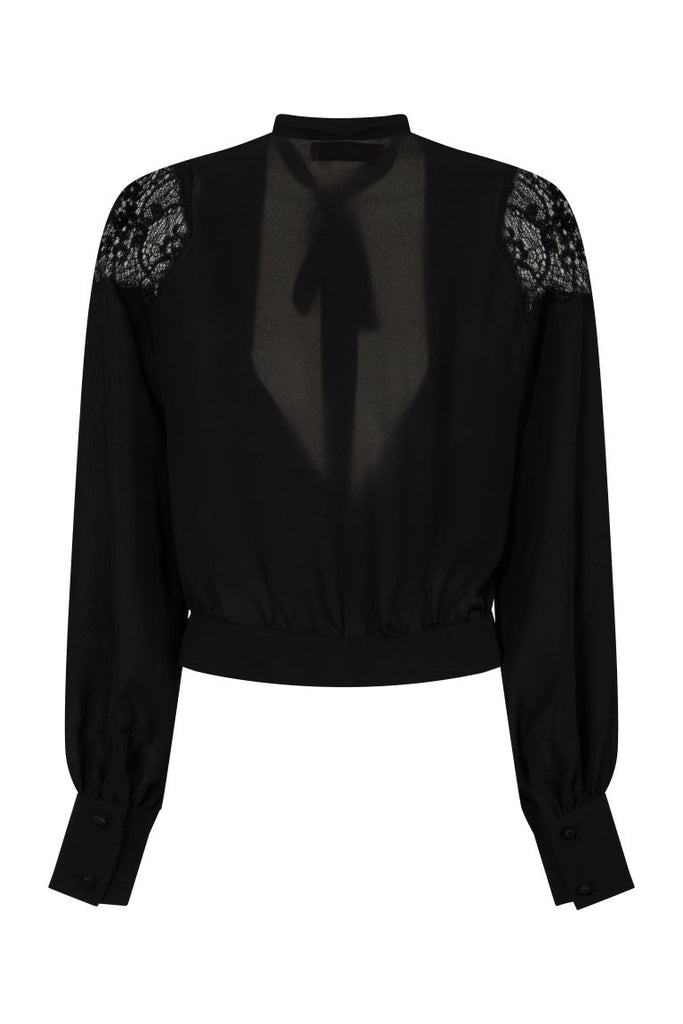 London Rebel | Coco Blouse with Lace Shoulder | Back View