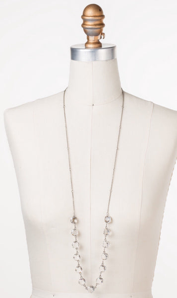 Sorrelli Crystal Rain Long Strand Necklace