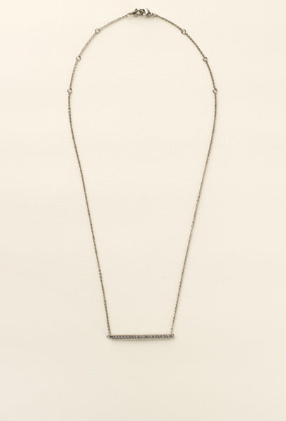 Sorrelli Rhinestone Bar Pendant Necklace