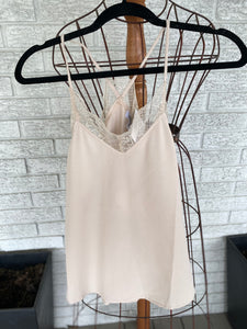 Taupe lace cami