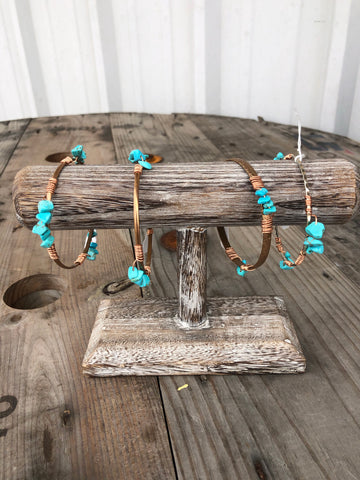 Twisted Turquoise Bangles