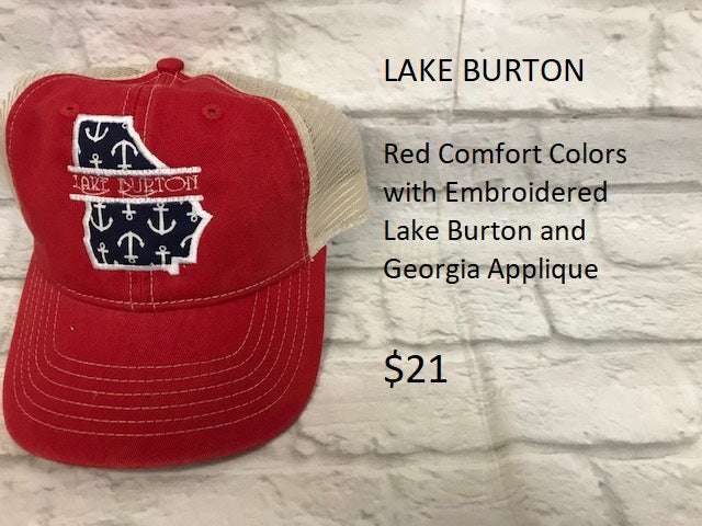 Lake Burton - Red Comfort Colors Cap