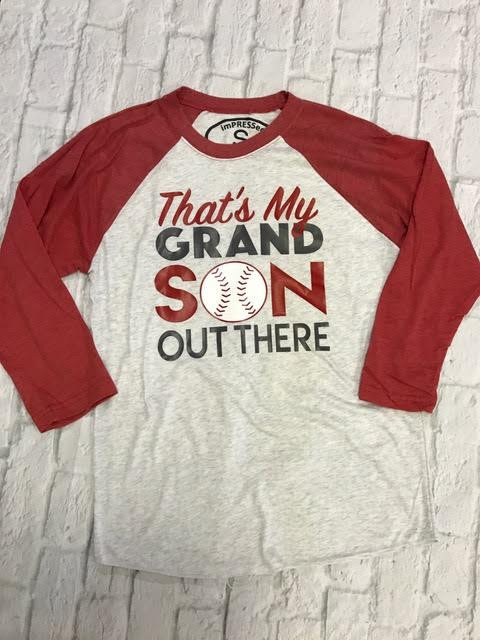 That's My Grandson Out There - Raglan T