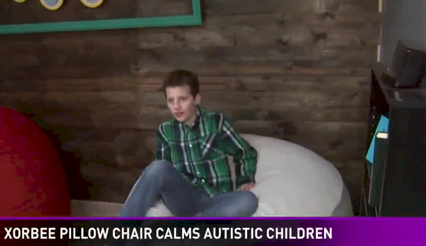 Foam-filled Xorbee calms this child with autism