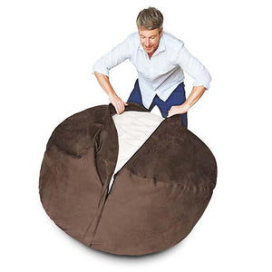 4-Foot Foam-Filled Bean Bag Chair
