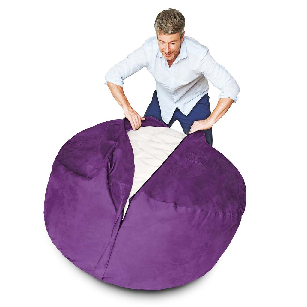 6-Foot Foam-Filled Bean Bag Chair