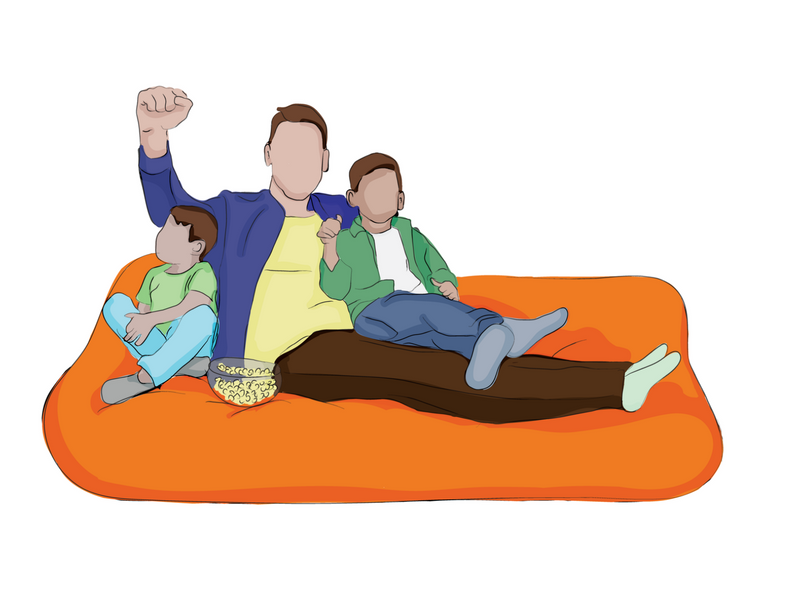 6-Foot Foam-Filled Bean Bag Pillow