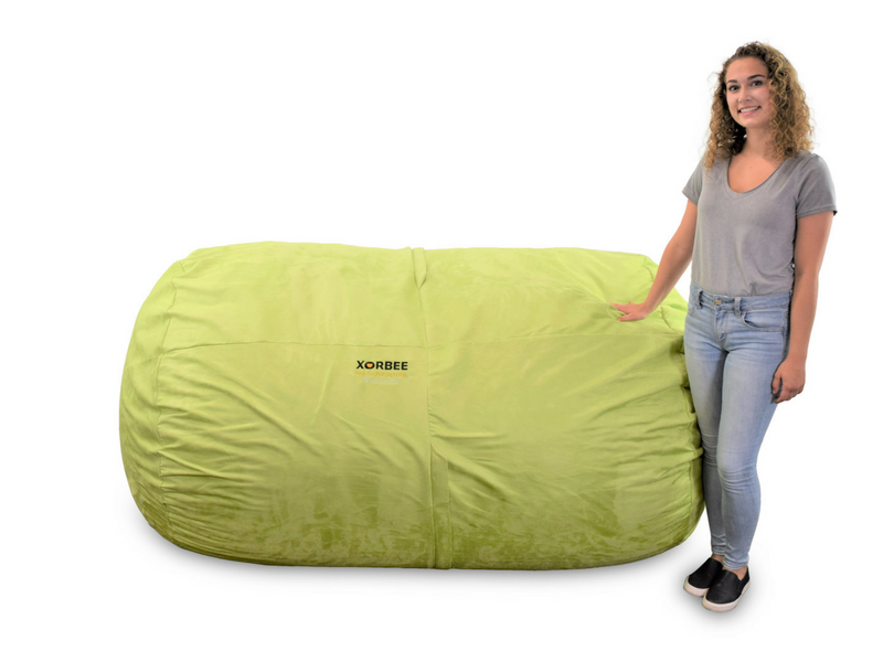 Fabulous 7 Foot Foam Filled Bean Bag Lounger Microsuede Lime Pabps2019 Chair Design Images Pabps2019Com