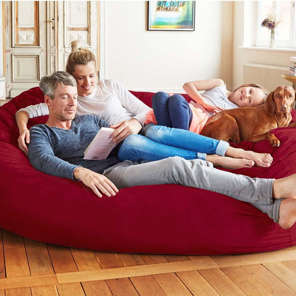 7-Foot Foam-Filled Bean Bag Chair