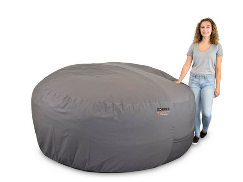 8-Foot Foam-Filled Bean Bag Chair