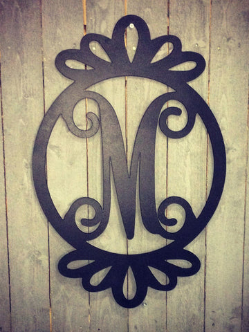 Monogrammed Door Hanger with Loops
