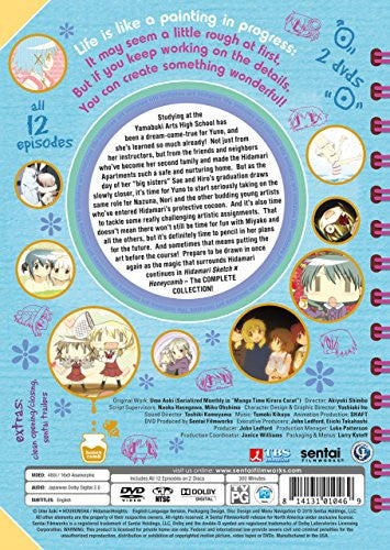 Hidamari Sketch X Honeycomb Complete Collection DVD Back Cover