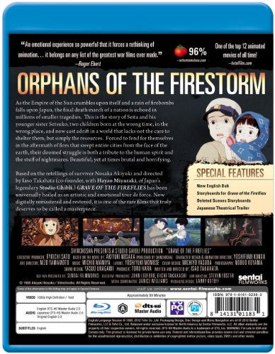 Grave of the Fireflies Blu-ray Back Cover