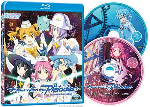 Wish Upon the Pleiades Complete Collection Blu-ray Disc Spread