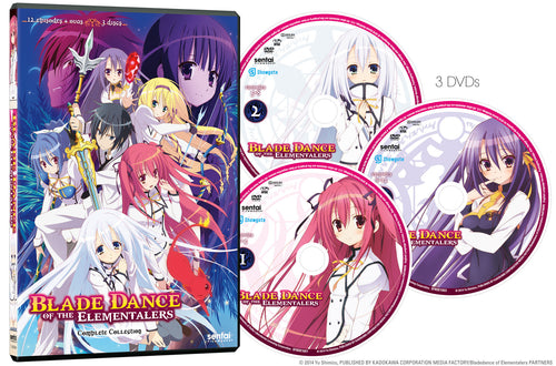 Blade Dance of the Elementalers Complete Collection DVD Disc Spread