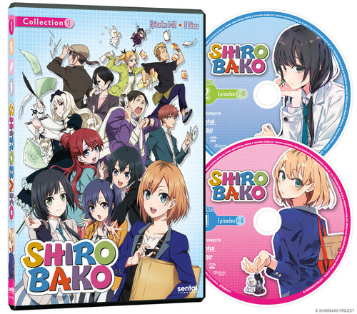 SHIROBAKO Collection 1 DVD Disc Spread