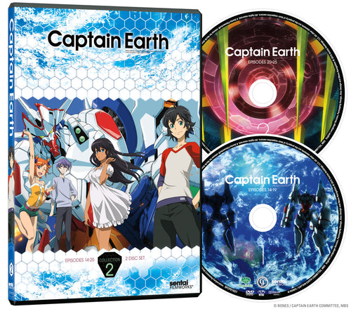 Captain Earth Collection 2 DVD Disc Spread