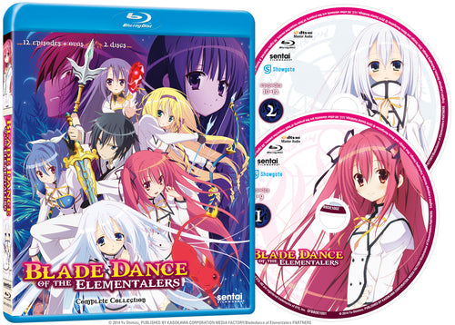 Blade Dance of the Elementalers Complete Collection Blu-ray Disc Spread