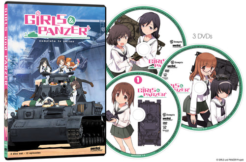 Girls und Panzer Complete Collection DVD Disc Spread