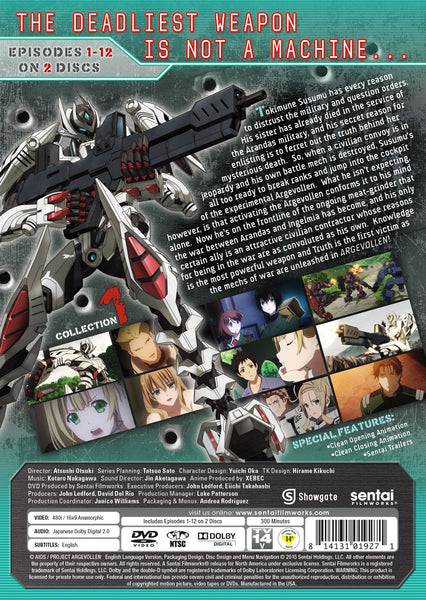 Argevollen Collection 1 DVD Back Cover