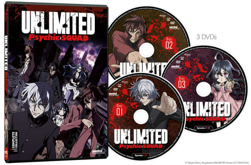 Unlimited Psychic Squad Complete Collection - Sentai Filmworks - anime - 2