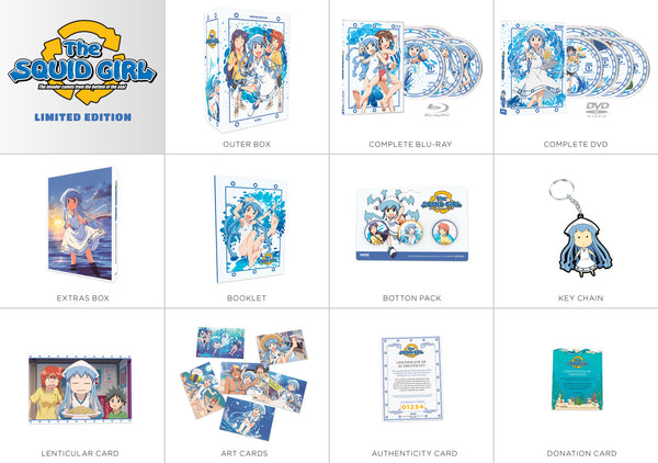 Squid Girl Seasons 1 & 2 Premium Box Set Contents
