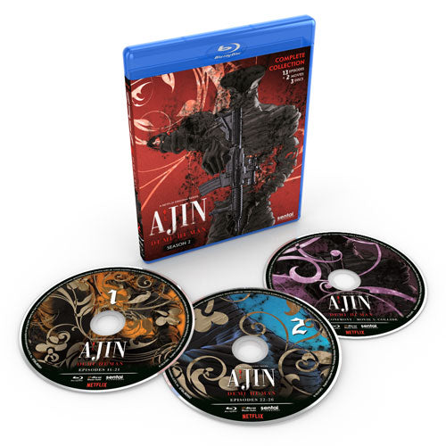 Ajin: Demi-Human Season 2 Complete Collection Blu-ray Disc Spread