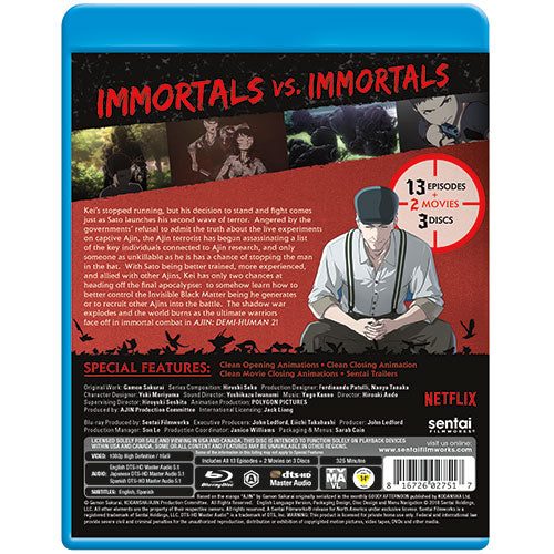 Ajin: Demi-Human Season 2 Complete Collection Blu-ray Back Cover