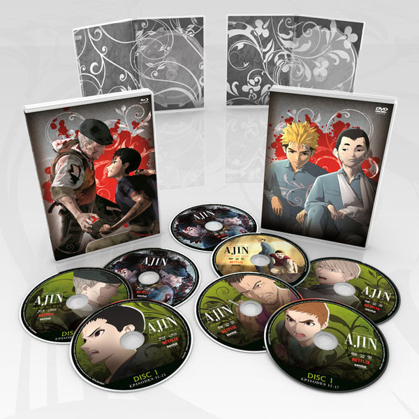 Ajin: Demi-Human Season 2 Premium Box Set Disc Spread