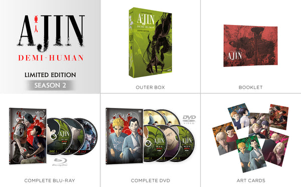 Ajin: Demi-Human Season 2 Premium Box Set Contents