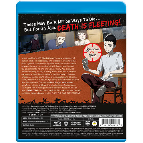 Ajin: Demi-Human OAD Collection Blu-ray Back Cover