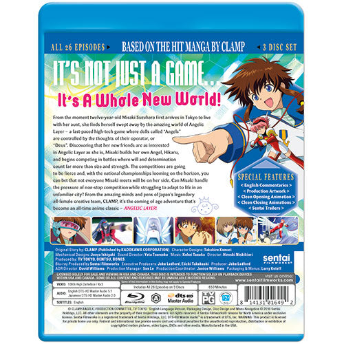 Angelic Layer Complete Collection Blu-ray Back Cover