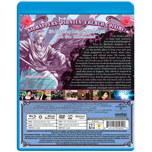 Arch Angels Blu-ray Back Cover