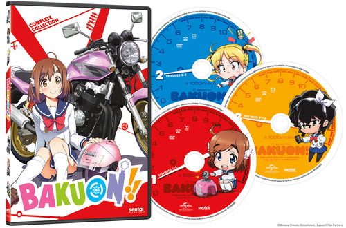 Bakuon!! Complete Collection DVD Disc Spread