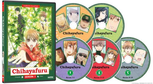 Chihayafuru Complete Collection DVD Disc Spread