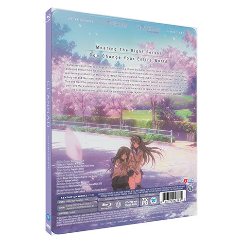 CLANNAD Complete Collection [SteelBook Edition] Blu-ray Back