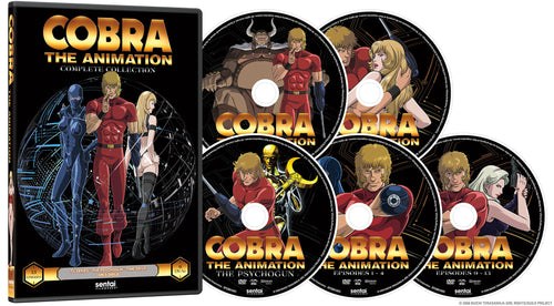 Cobra the Animation Complete Collection DVD Disc Spread